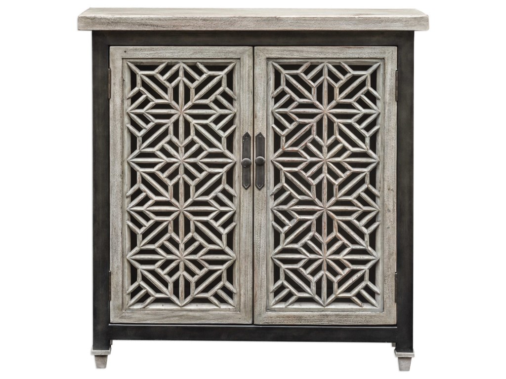 Uttermost Accent FurnitureBranwen Aged White Accent Cabinet