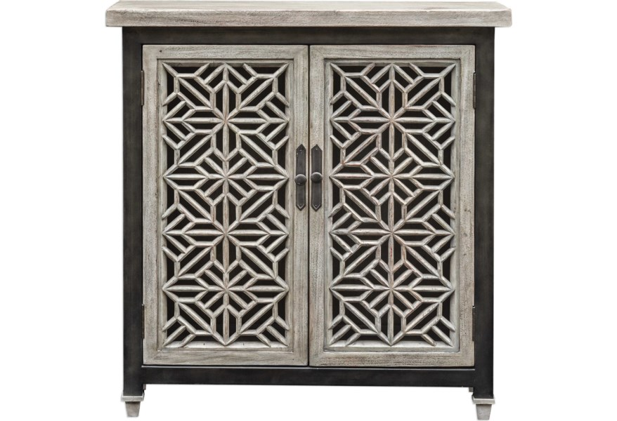 Uttermost Accent Furniture Chests Branwen Aged White Cabinet Lagniappe Home Store