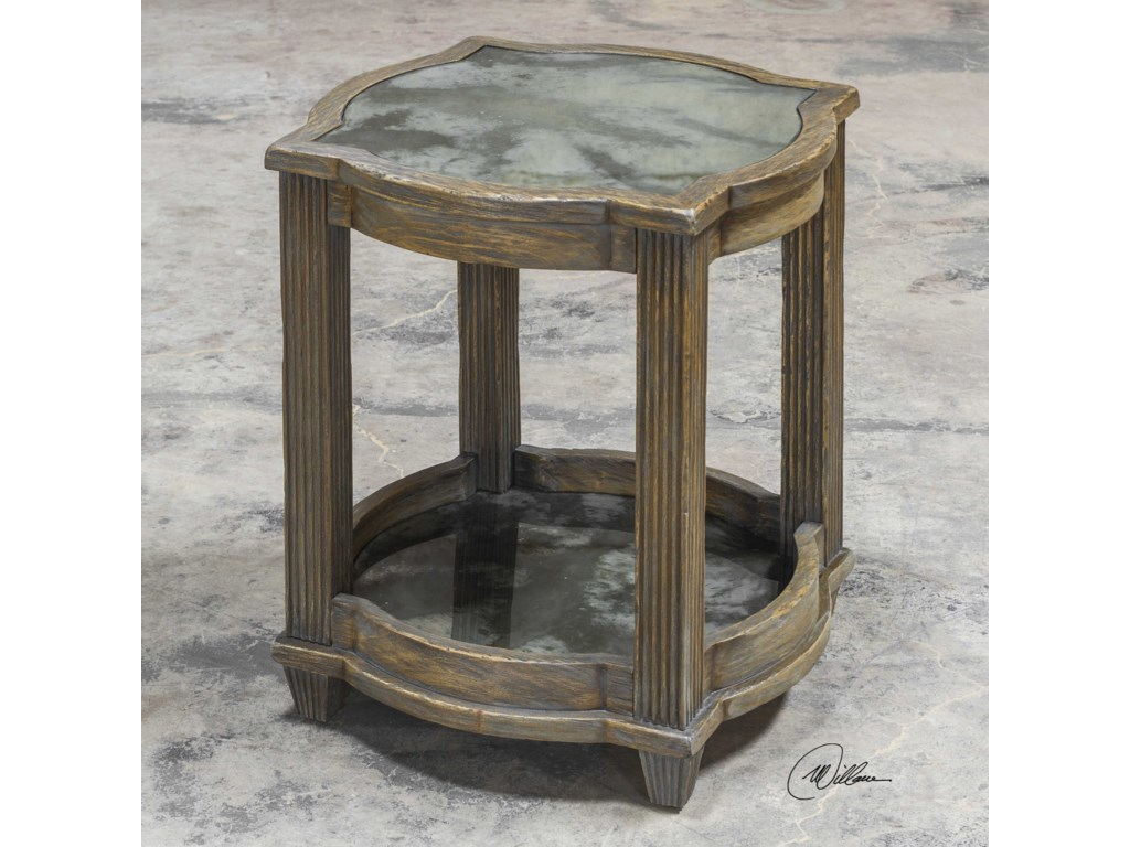Uttermost Accent FurnitureOlani Weather Oak Accent Table