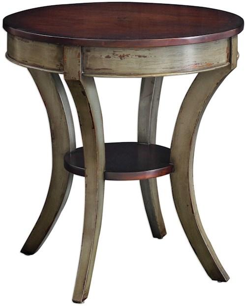 Uttermost Accent Furniture Loukas Wooden Lamp Table