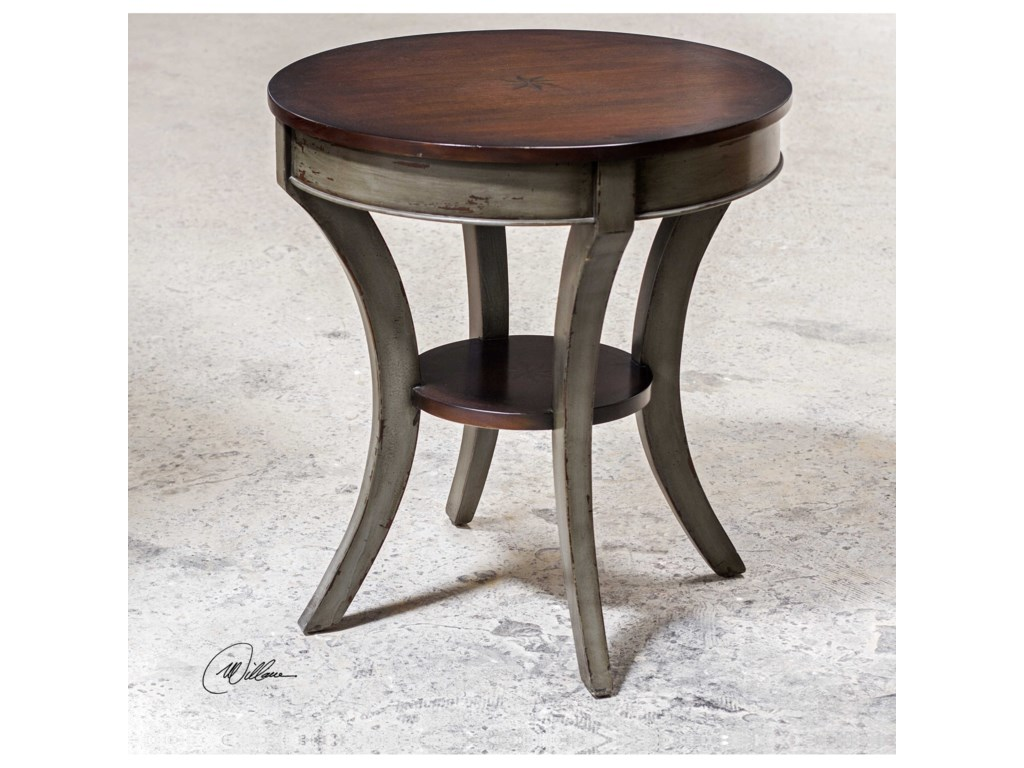 Uttermost Accent Furniture - Occasional TablesLoukas Wooden Lamp Table