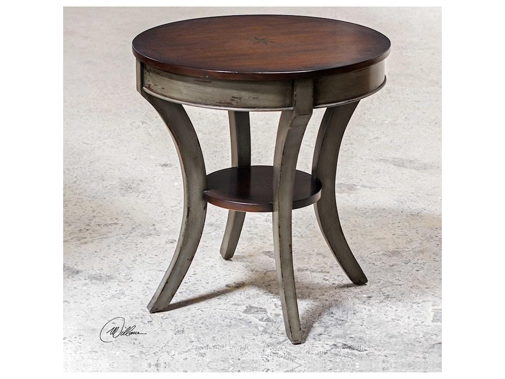 Uttermost Accent FurnitureLoukas Wooden Lamp Table