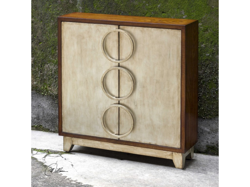 Uttermost Accent Furniture - ChestsJacinta Silver Cabinet