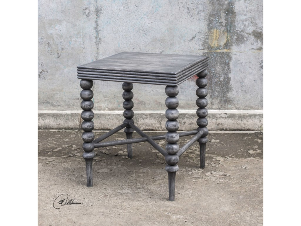 Uttermost Accent FurnitureKunja Gray End Table