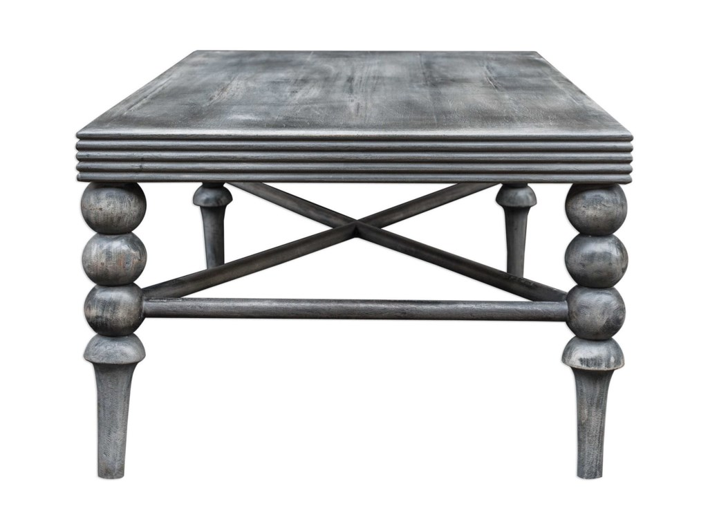 Uttermost Accent Furniture - Occasional TablesKunja Gray Coffee Table
