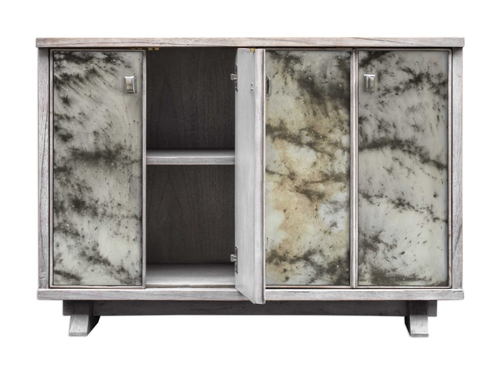 Uttermost Accent Furniture - ChestsCorban Aged Ivory Console Cabinet