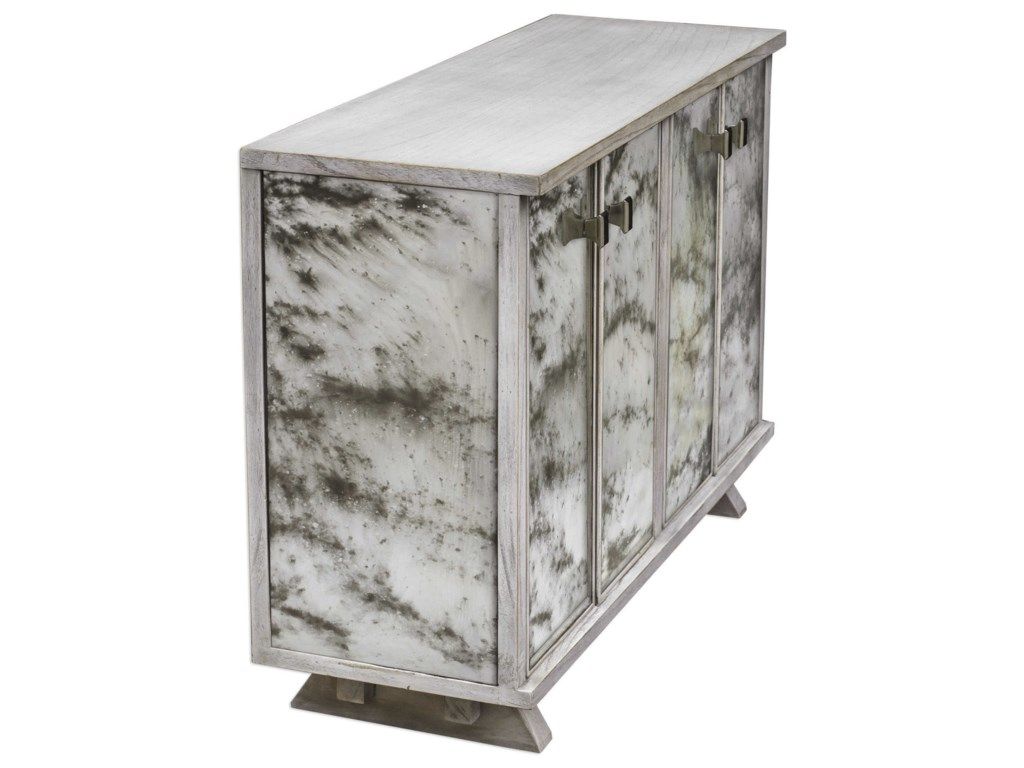 Uttermost Accent FurnitureCorban Aged Ivory Console Cabinet