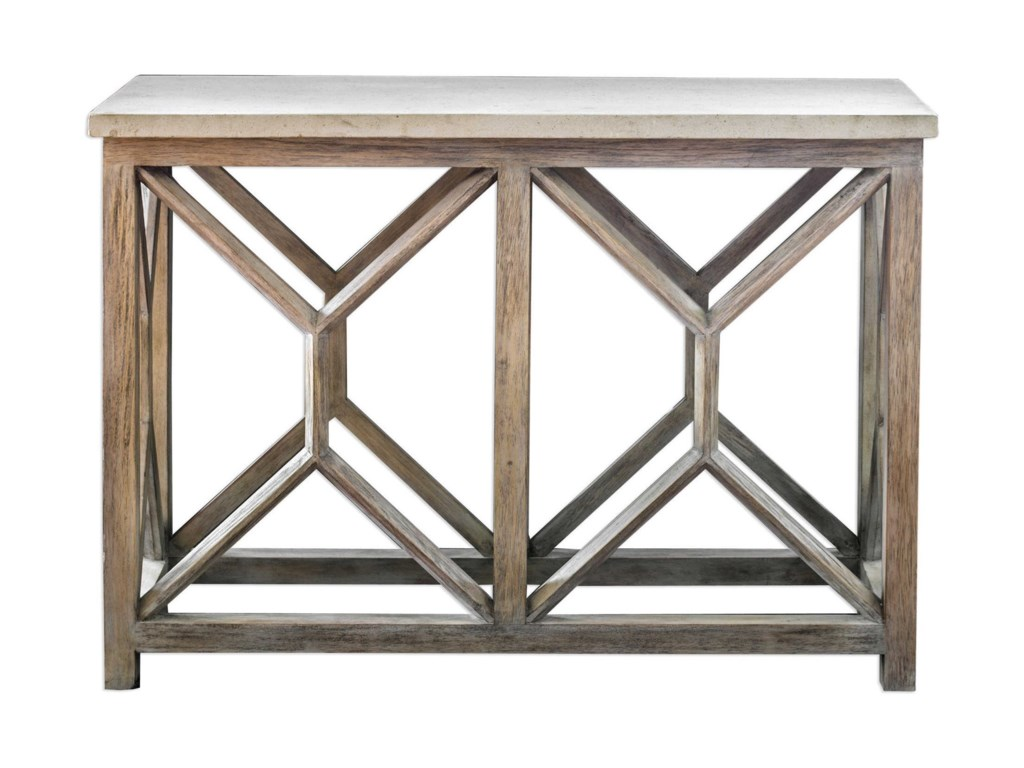 Uttermost Accent FurnitureCatali Ivory Stone Console Table