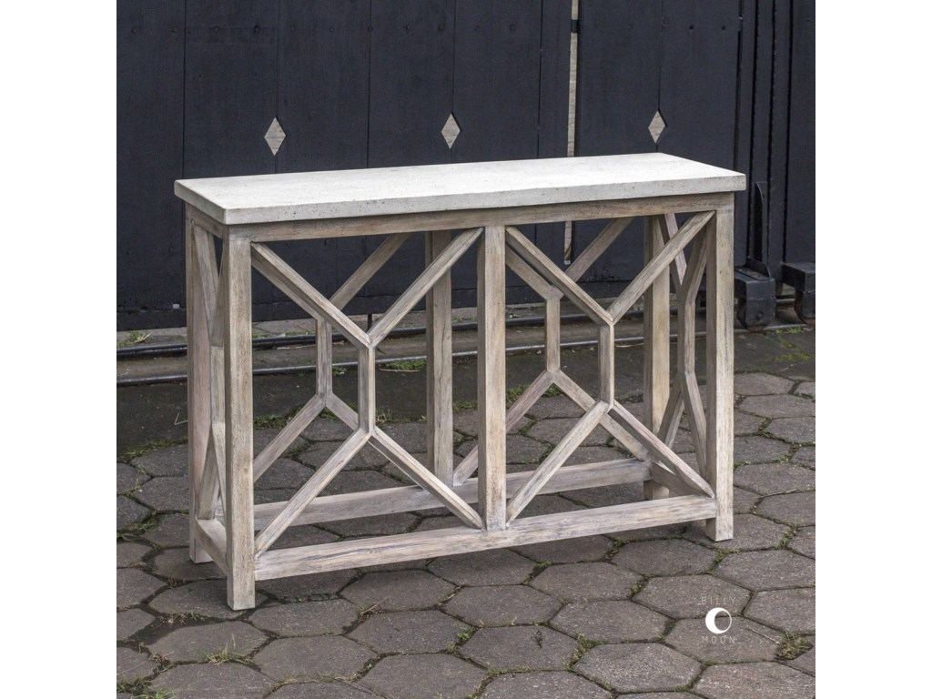 Uttermost Accent Furniture - Occasional TablesCatali Ivory Stone Console Table