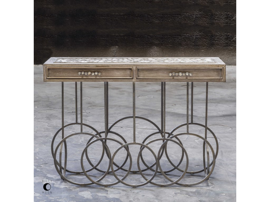 Uttermost Accent FurnitureSilana Stone Mosaic Console Table