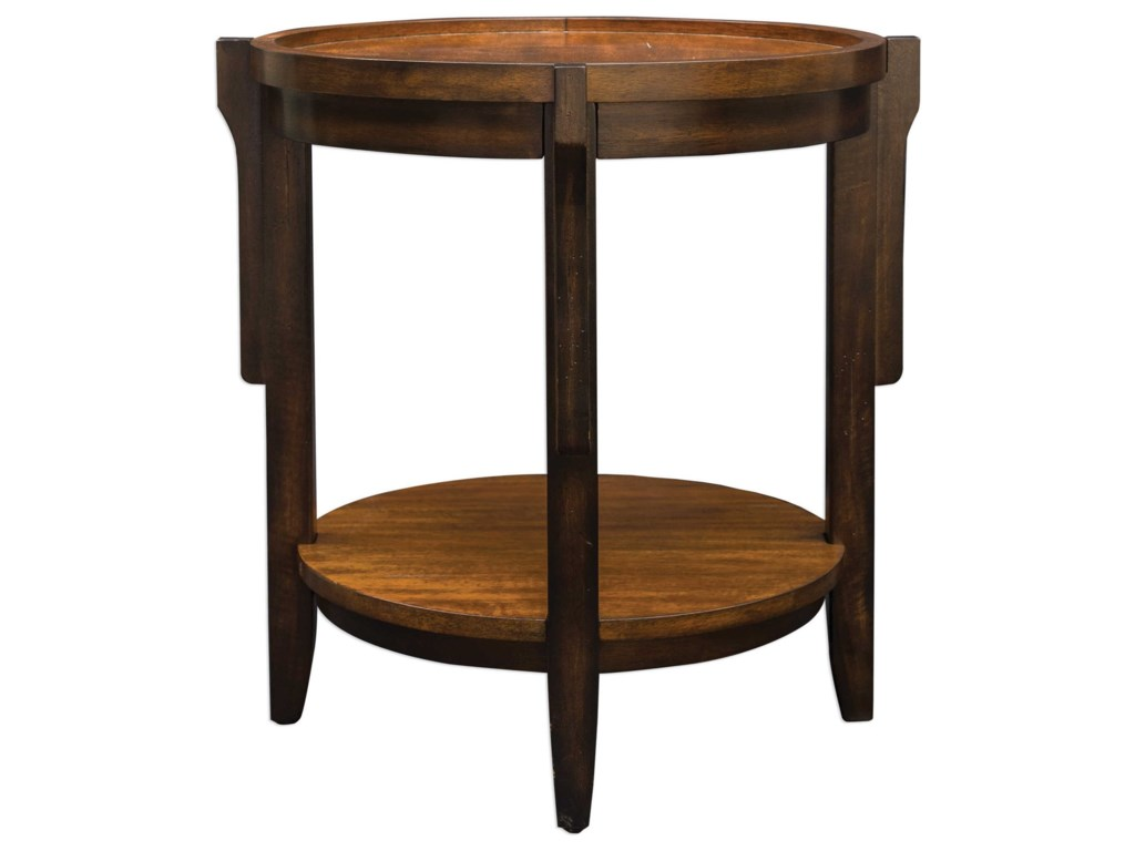 Uttermost Accent FurnitureSigmon Round Wooden End Table