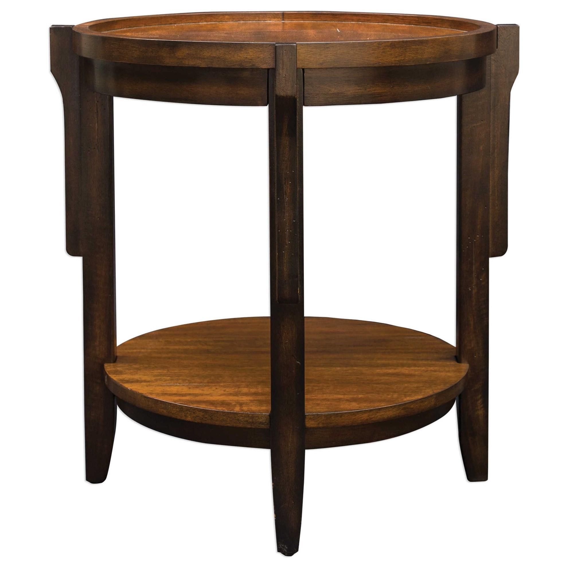Uttermost Accent FurnitureSigmon Round Wooden End Table ...