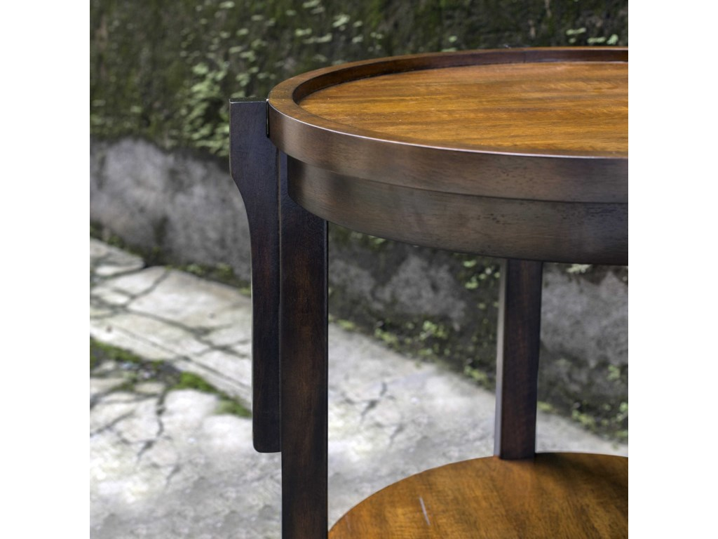 Uttermost Accent Furniture - Occasional TablesSigmon Round Wooden End Table