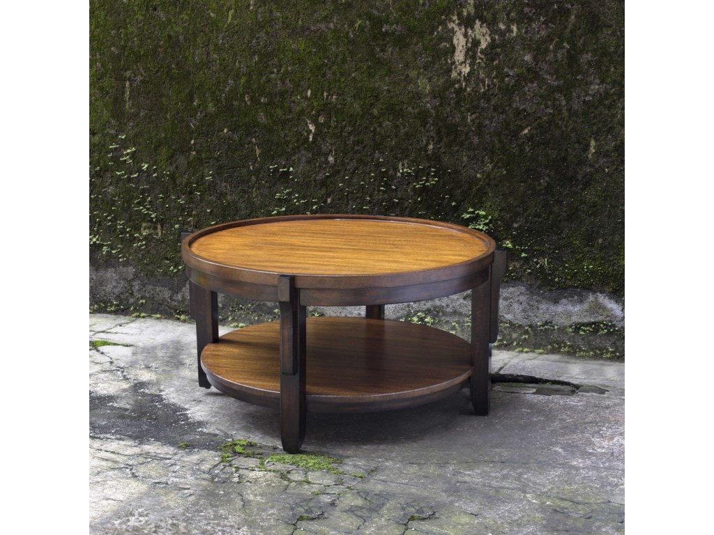 Uttermost Accent FurnitureSigmon Round Wooden Coffee Table