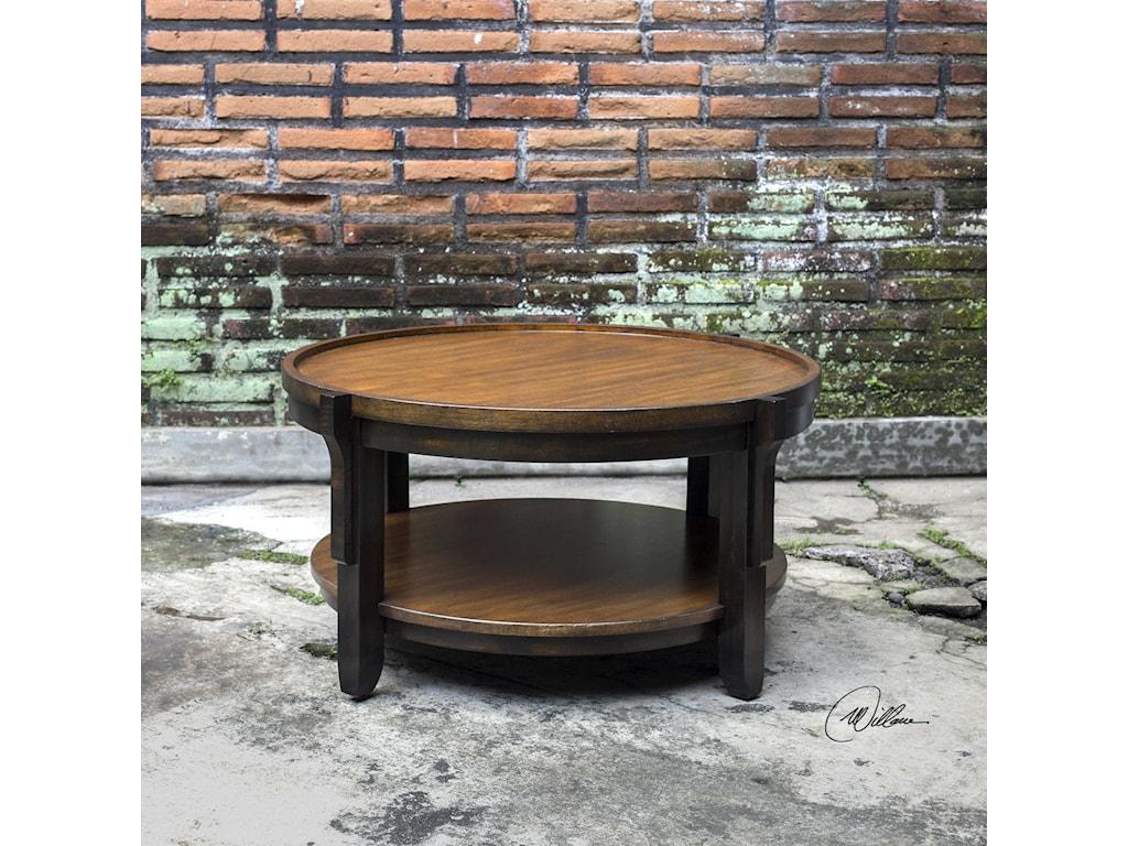 Uttermost Accent FurnitureSigmon Round Wooden Coffee Table