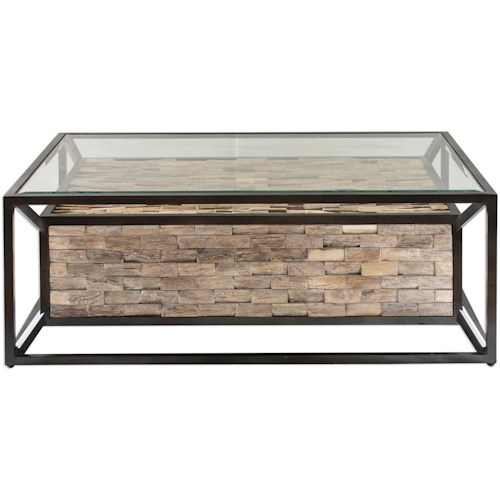 Uttermost Accent Furniture Kono Reclaimed Teak Coffee Table