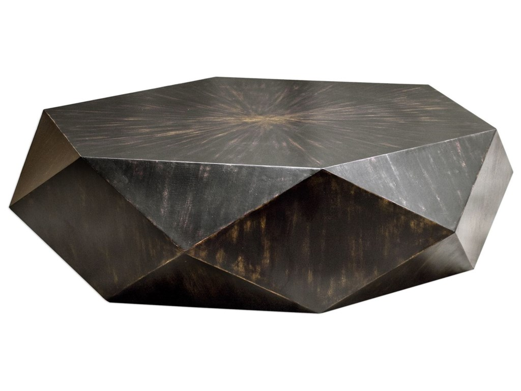 Uttermost Accent Furniture Volker Worn Black Coffee Table - Uttermost driftwood coffee table