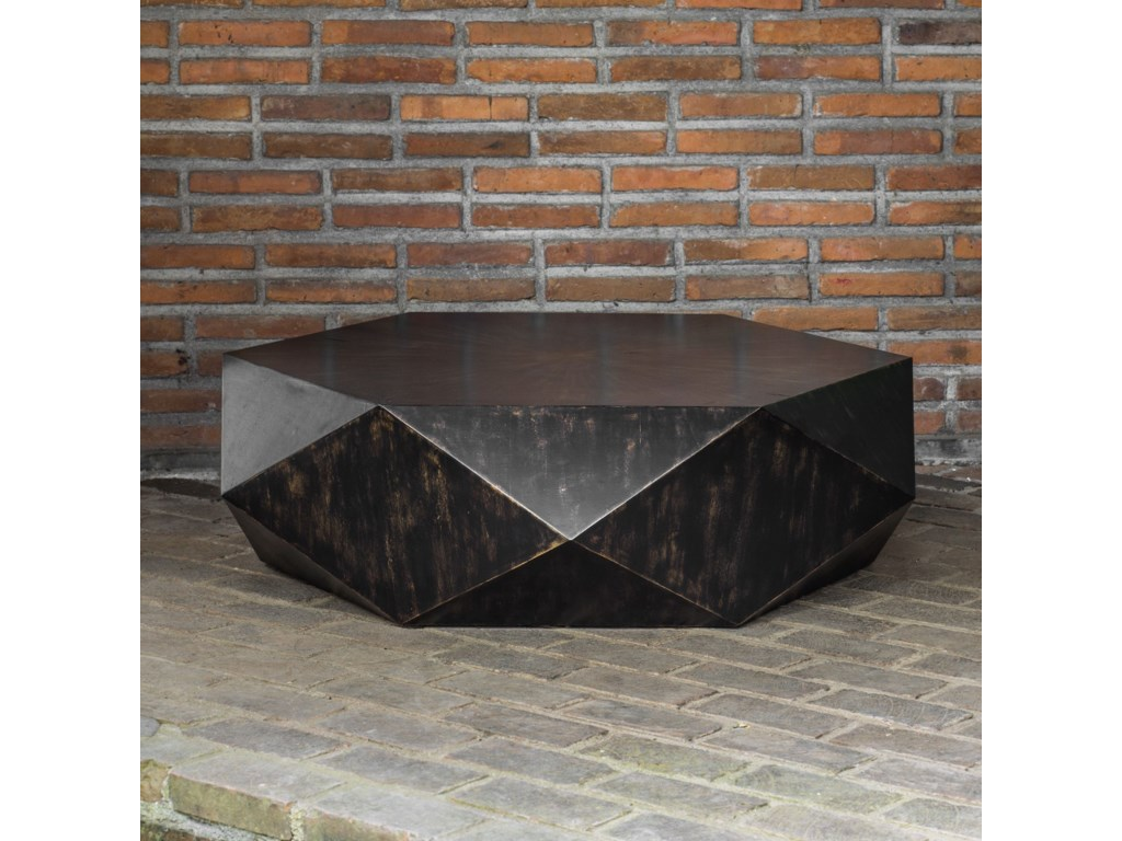 Uttermost Accent Furniture - Occasional TablesVolker Worn Black Coffee Table