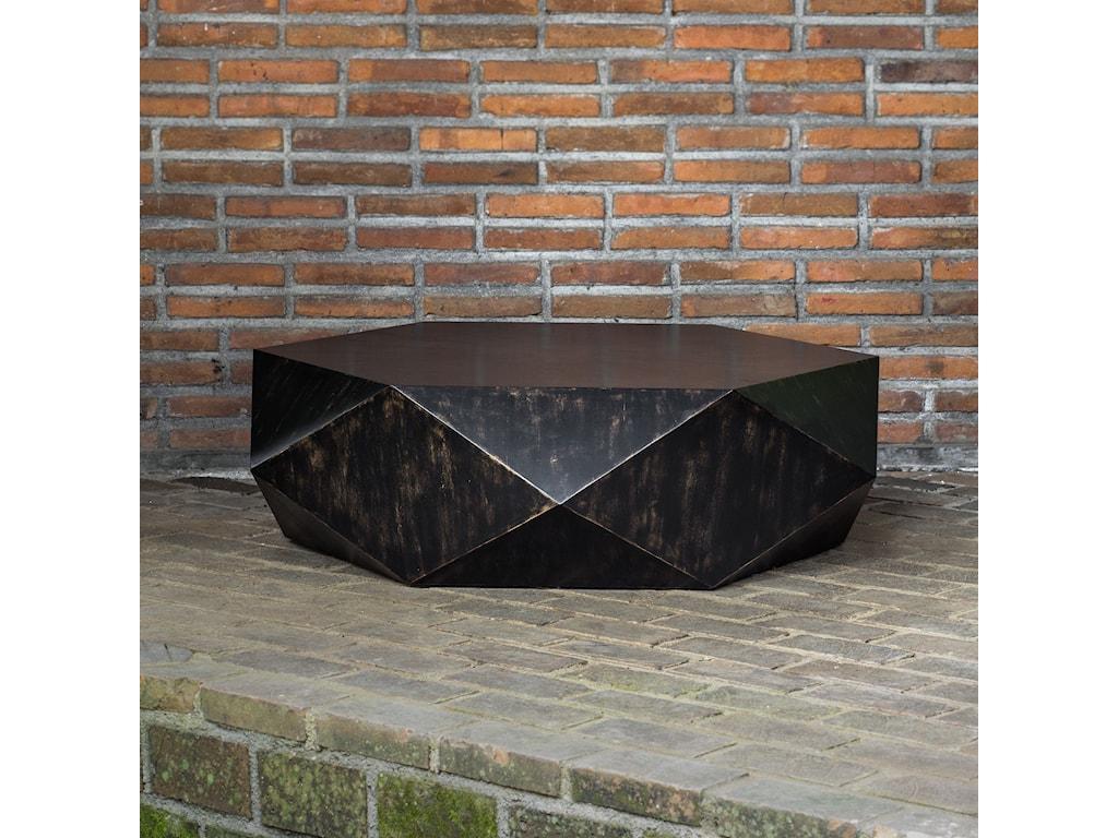 Uttermost Accent FurnitureVolker Worn Black Coffee Table