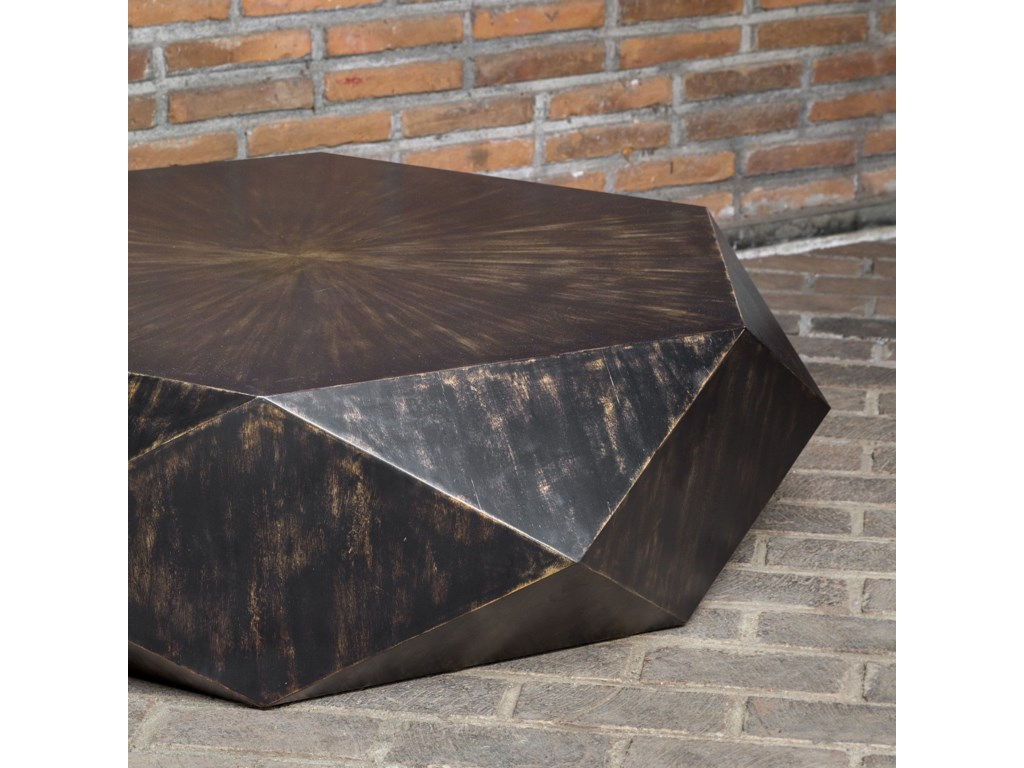 Uttermost Accent FurnitureVolker Worn Black Coffee Table
