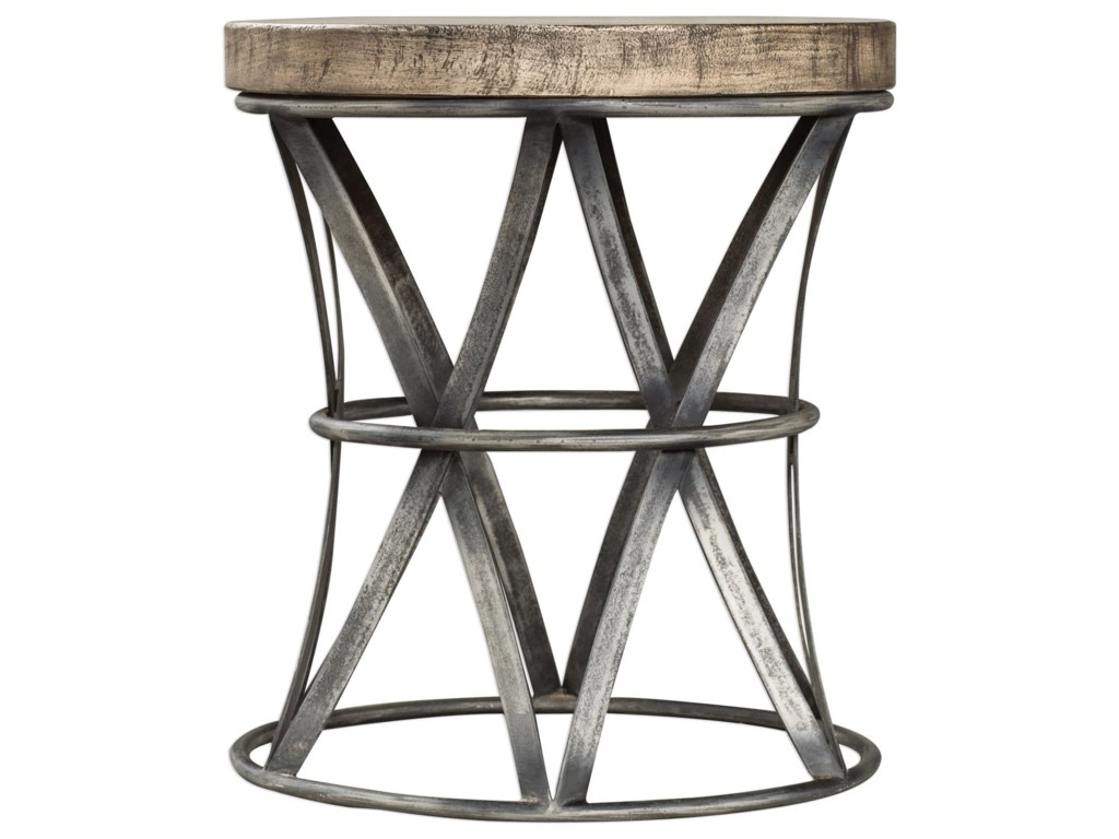 Uttermost Accent FurnitureRanier Industrial Accent Stool