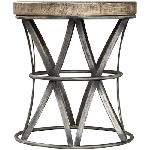 Uttermost Accent Furniture Ranier Industrial Accent Stool