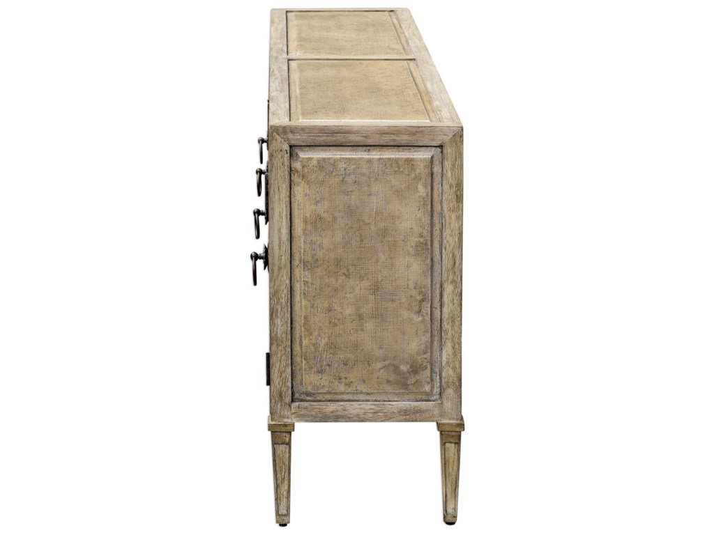 Uttermost Accent Furniture - Occasional TablesThina Champagne Console Cabinet