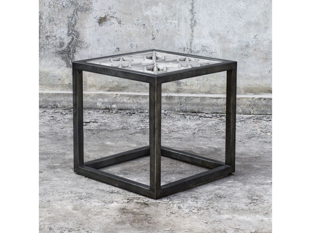 Uttermost Accent Furniture - Occasional TablesBaruti Iron Frame End Table