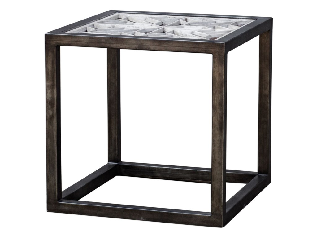 Uttermost Accent FurnitureBaruti Iron Frame End Table