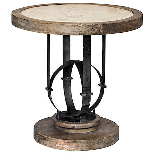 Uttermost Accent Furniture Sydney Light Oak Accent Table