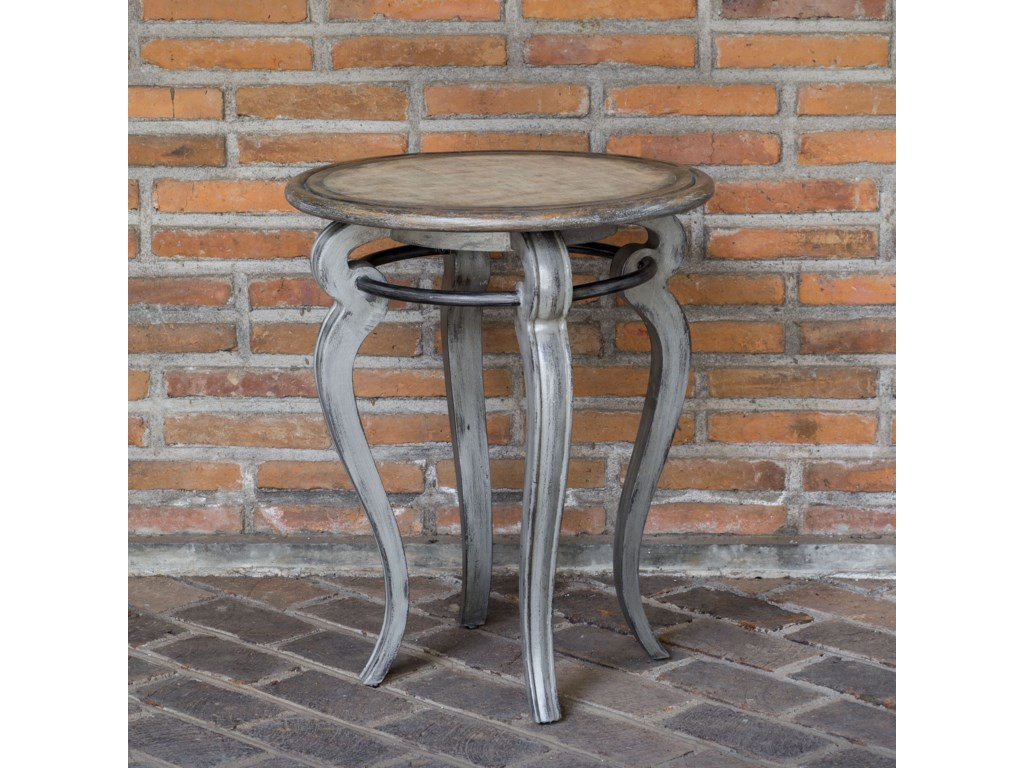 Uttermost Accent FurnitureMariah Round Gray Accent Table