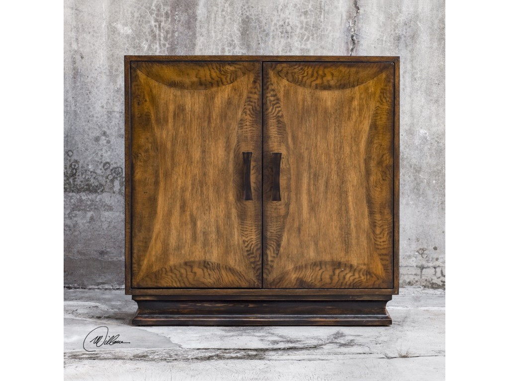 Uttermost Accent Furniture - ChestsSanele Honey Stain Console Cabinet