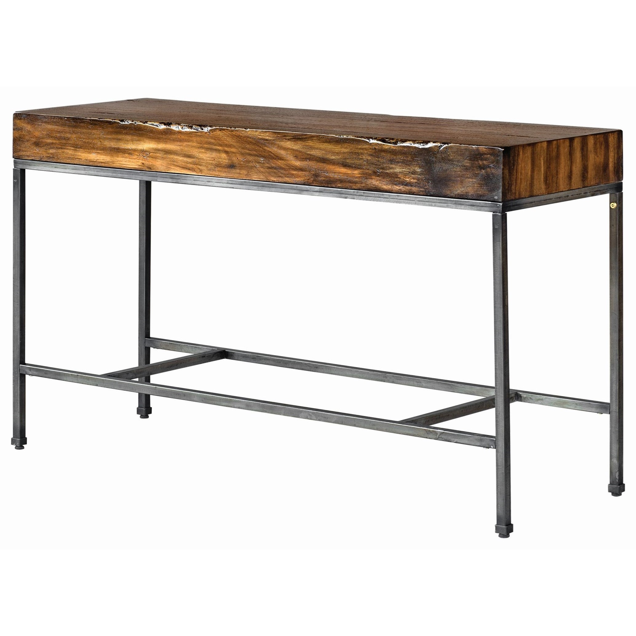 Uttermost Accent Furniture Delsin Wood Slab Console Table