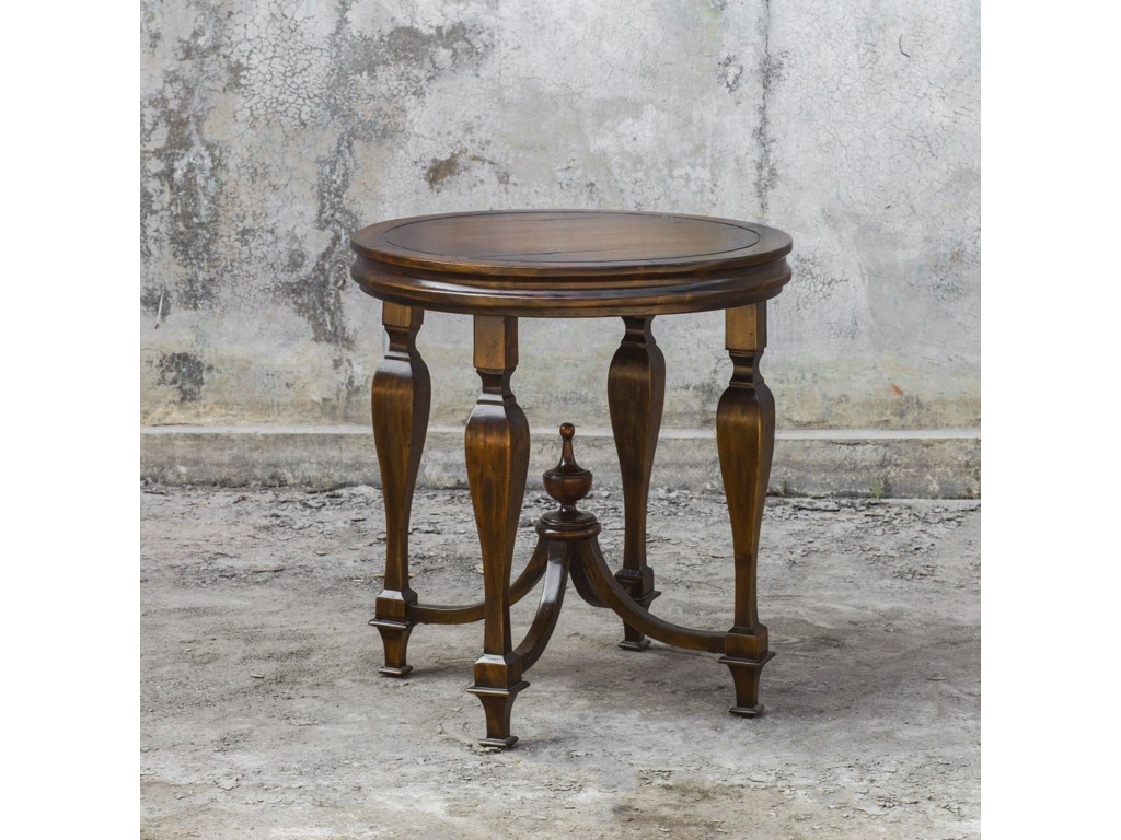 Uttermost Accent Furniture - Occasional TablesRaymond Mahogany Lamp Table