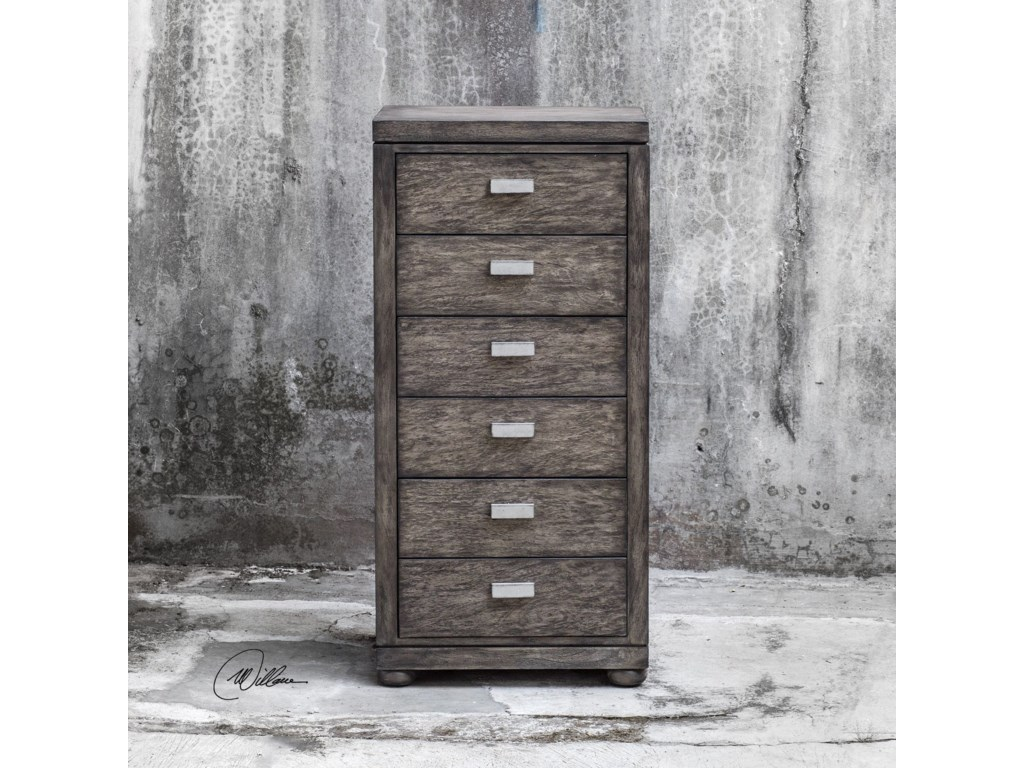 Uttermost Accent FurnitureChayton Driftwood Gray Drawer Chest