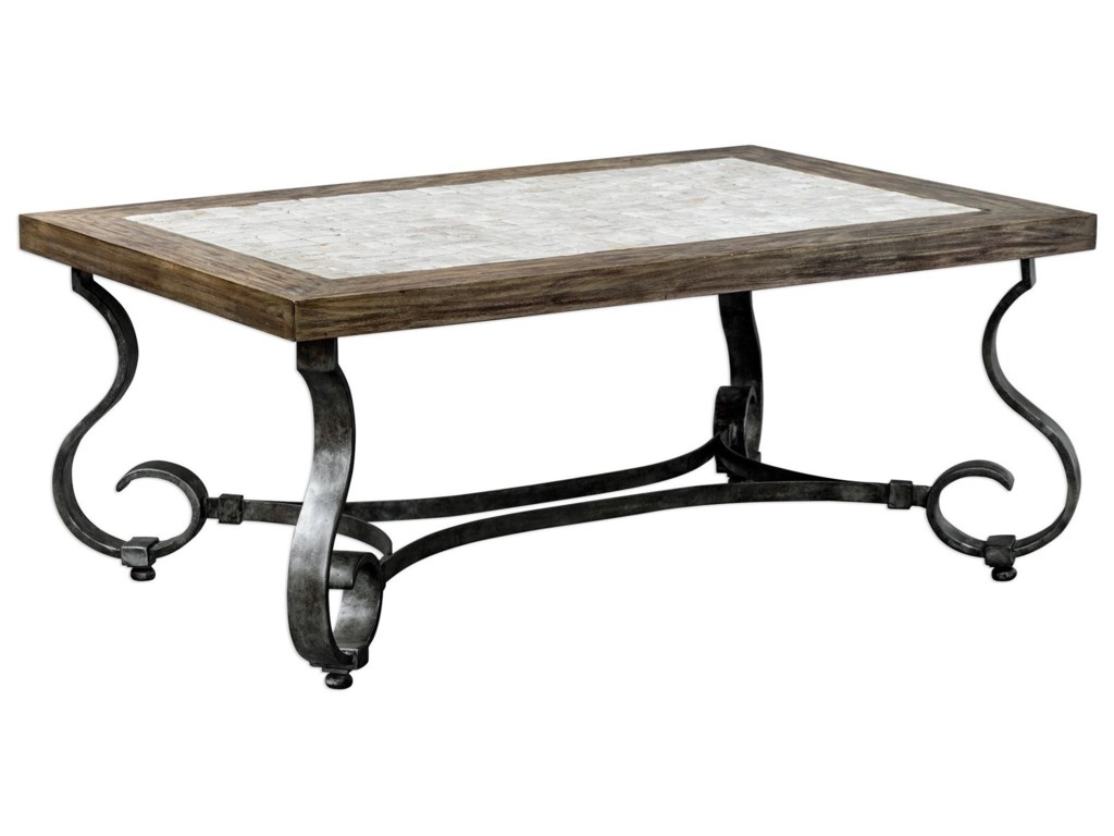 Uttermost Accent Furniture - Occasional TablesMona Light Honey Stained Coffee Table