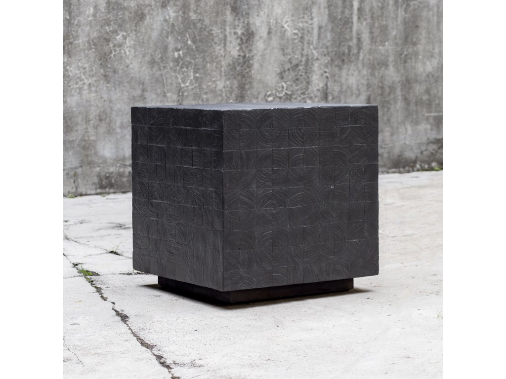Uttermost Accent FurnitureAyasha Charcoal Accent Table