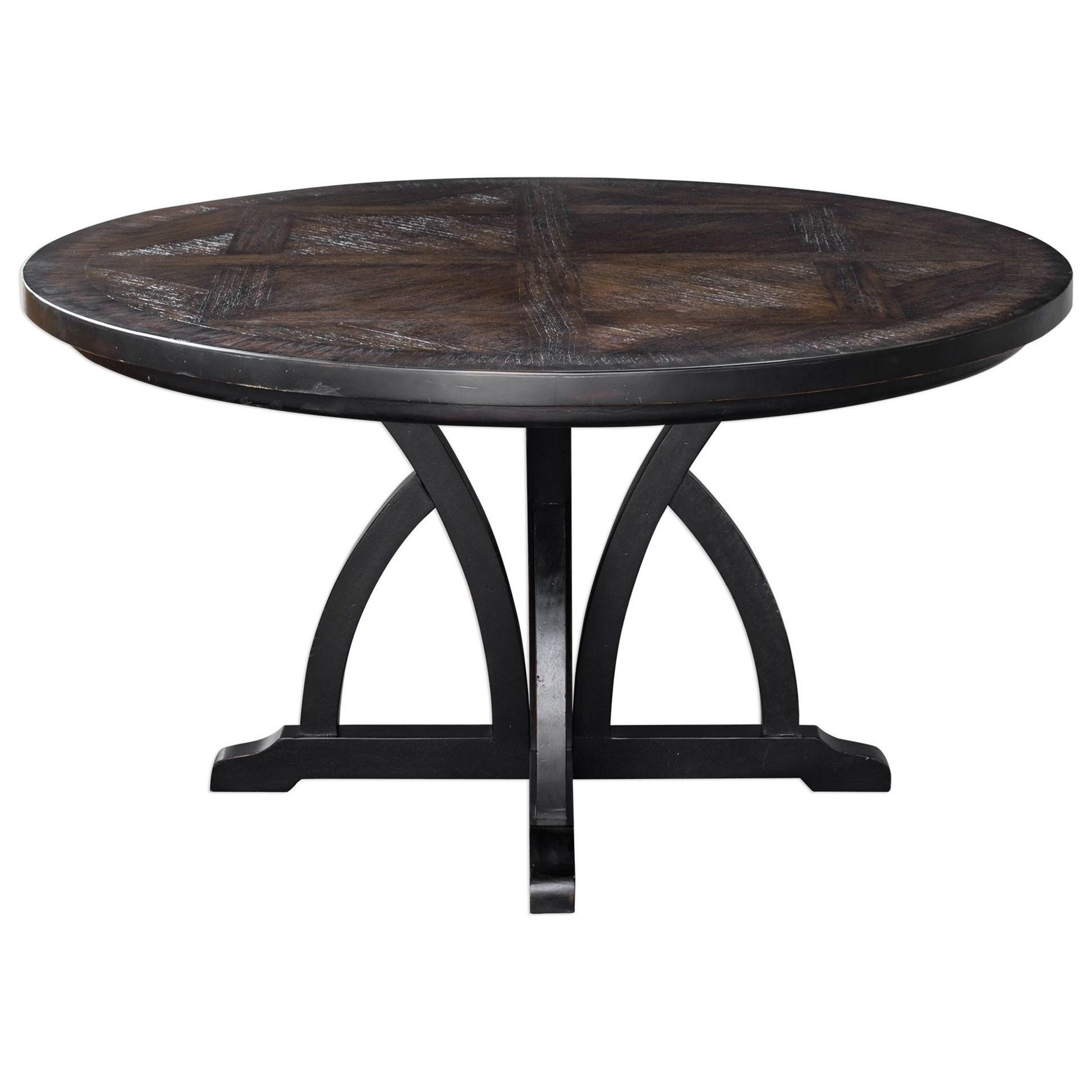 Maiva Round Black Dining Table