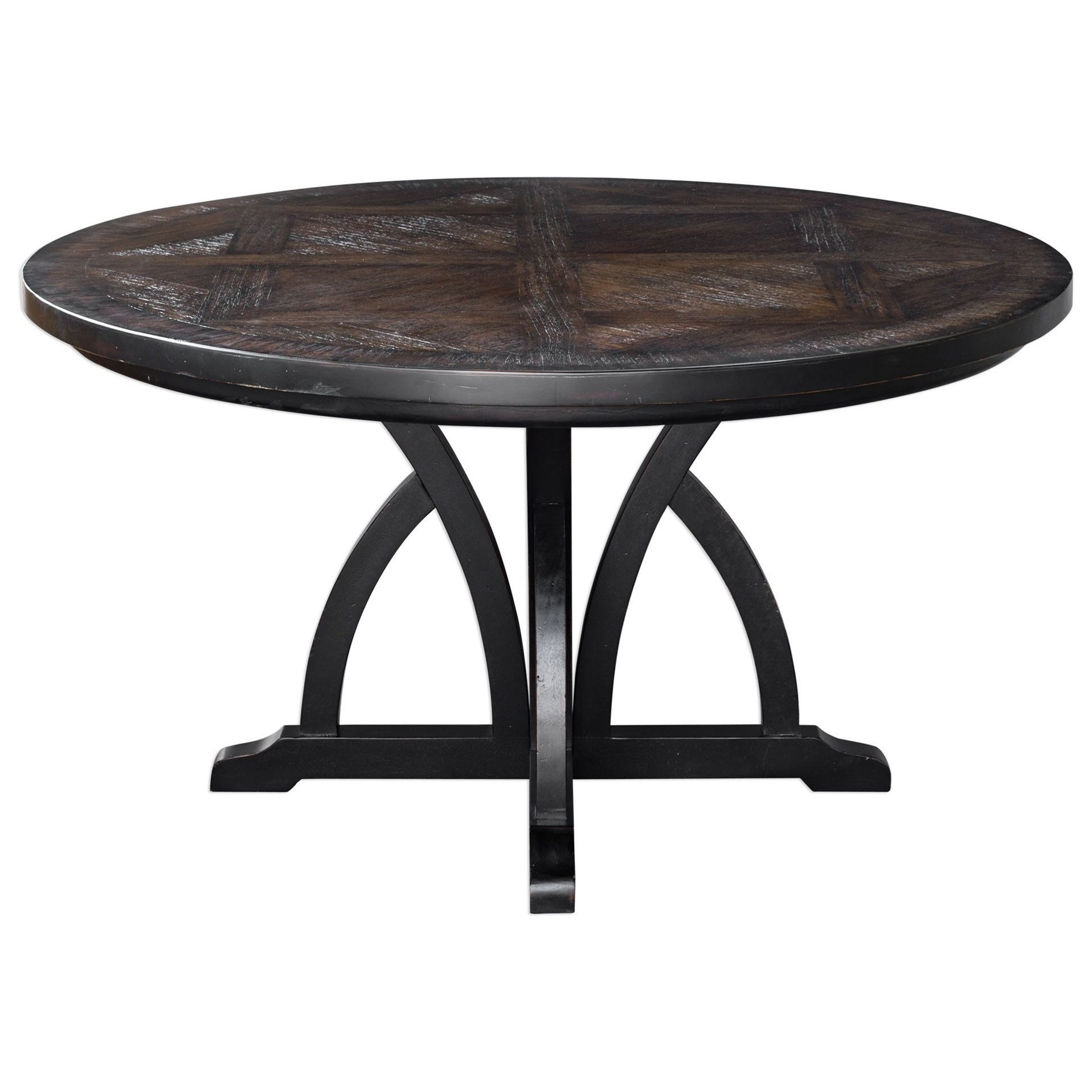 Picture of: Uttermost Accent Furniture Maiva Round Black Dining Table Wayside Furniture Dining Tables