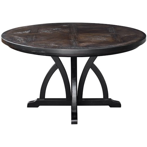 Uttermost Accent Furniture Maiva Round Black Dining Table