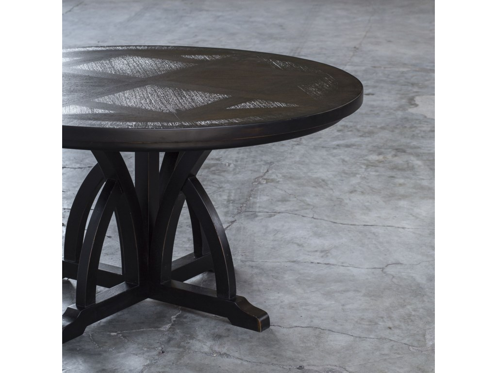 Uttermost Accent FurnitureMaiva Round Black Dining Table