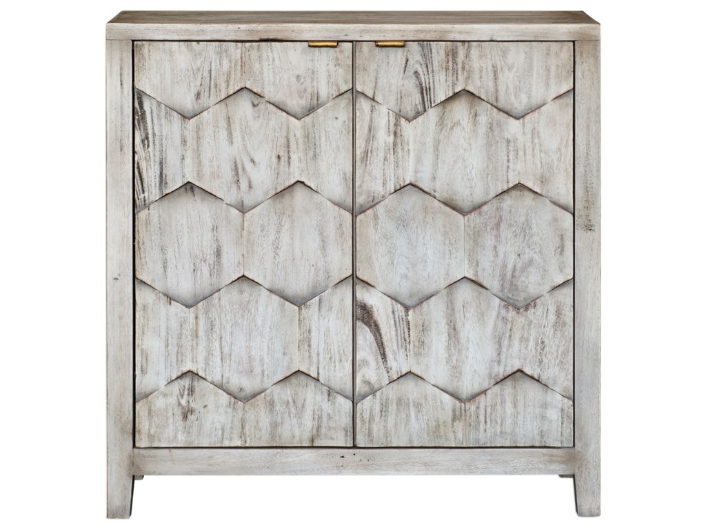 Uttermost Accent FurnitureCatori Smoked Ivory Console Cabinet