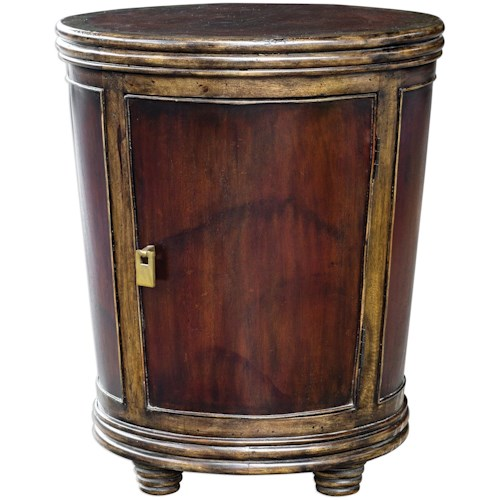 Uttermost Accent Furniture Muraco Drum Accent Table