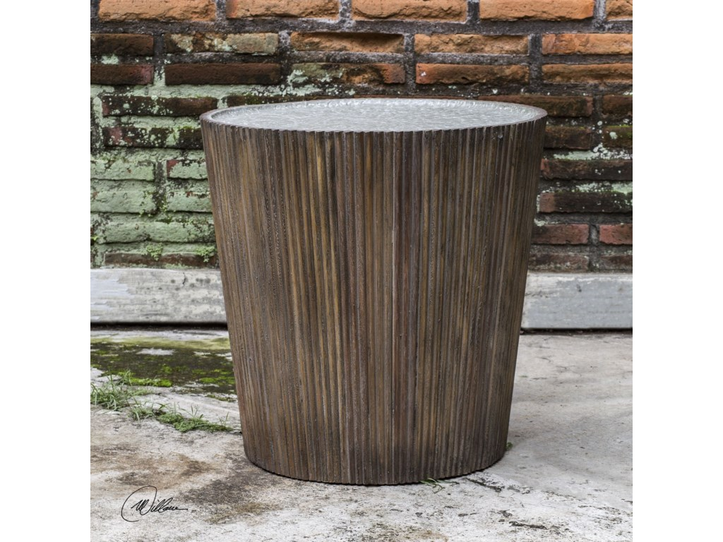 Uttermost Accent Furniture - Occasional TablesAmra Reeded Round Accent Table