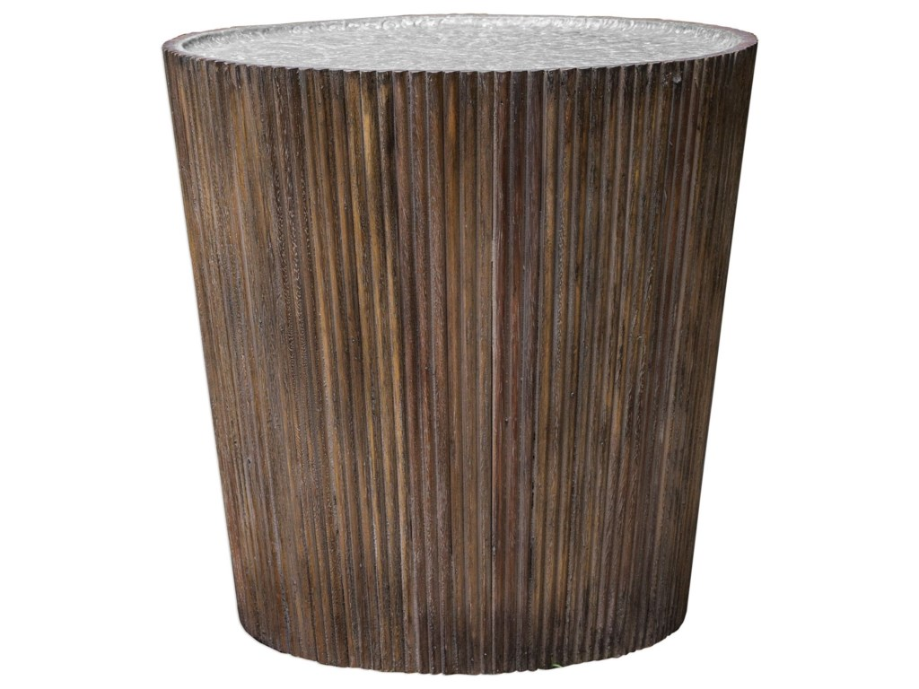 Uttermost Accent FurnitureAmra Reeded Round Accent Table