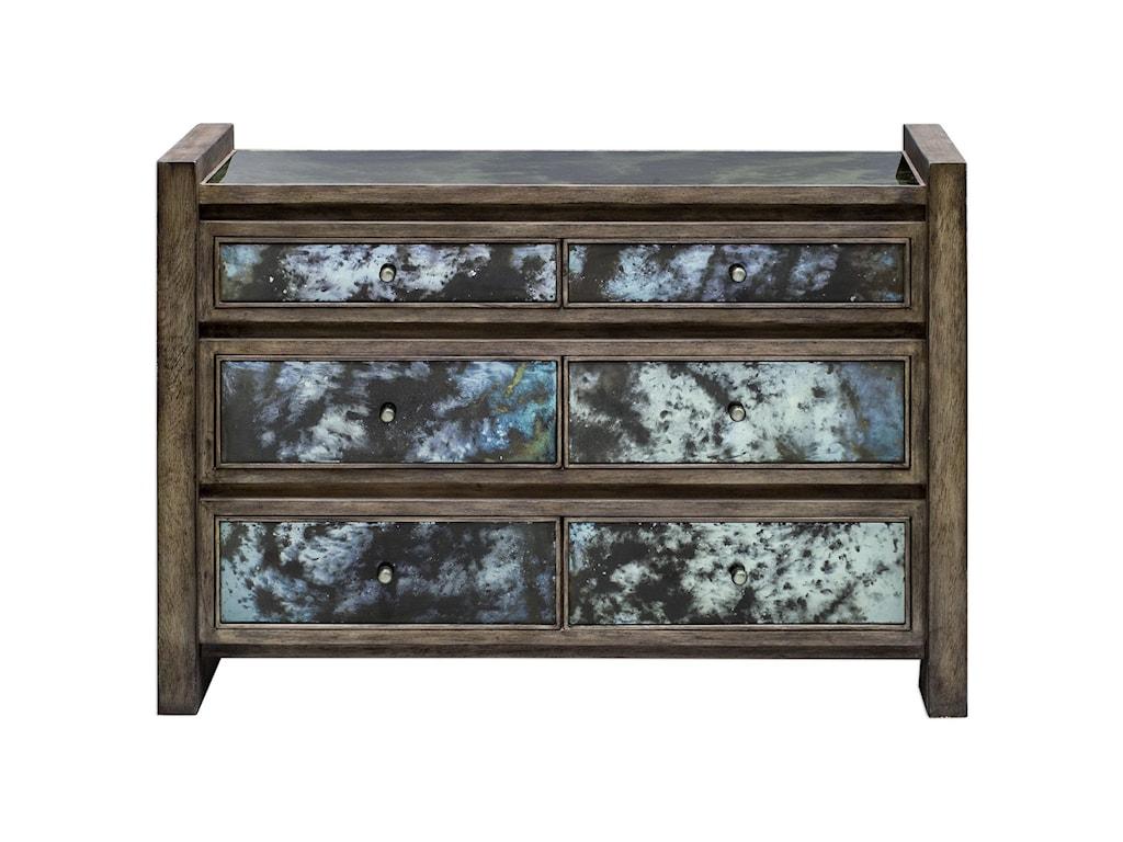 Uttermost Accent FurnitureDarcell Gray Wash Accent Chest