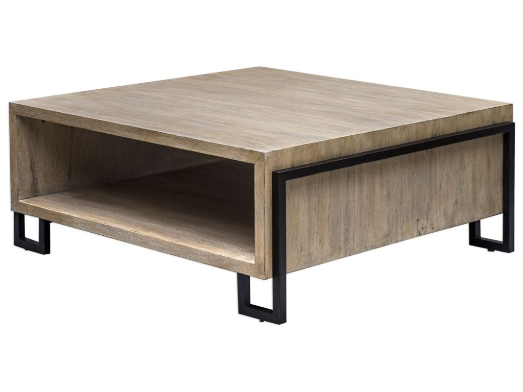 Accent Furniture Kailor Modern Coffee Table Rotmans Cocktail - Uttermost driftwood coffee table