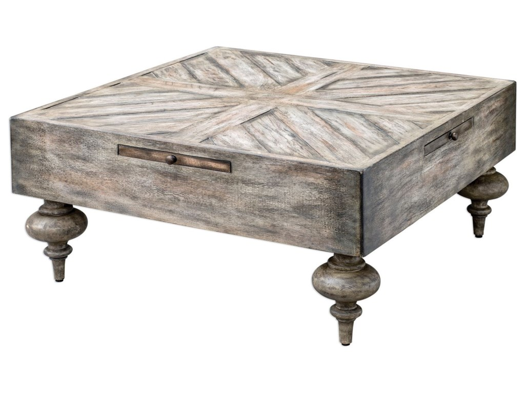 Uttermost Accent Furniture Nikita Driftwood Coffee Table Miskelly - Uttermost driftwood cocktail table