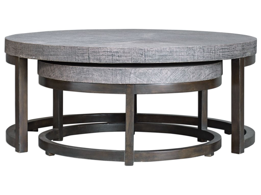 Uttermost Accent Furniture - Occasional TablesAiyara Gray Nesting Tables, S/2