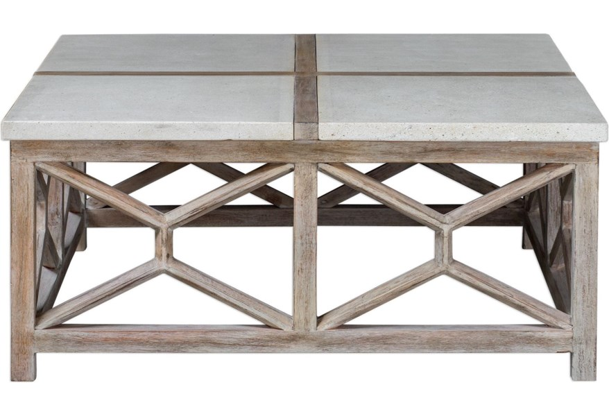 Uttermost Accent Furniture Occasional Tables 25885 Catali Stone Coffee Table Upper Room Home Furnishings Cocktail Coffee Tables